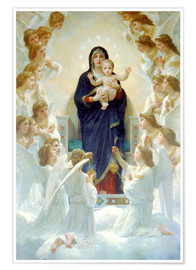 Premium poster  The Virgin with angels - William Adolphe Bouguereau