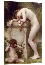 Foam board print  Elegy - William Adolphe Bouguereau