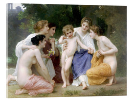 Acrylic print  The admiration - William Adolphe Bouguereau