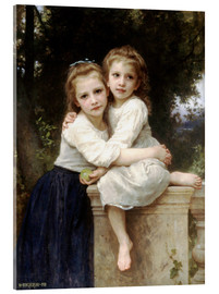 Acrylic print  Two sisters - William Adolphe Bouguereau