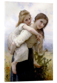 Acrylic glass  Not hard to bear - William Adolphe Bouguereau