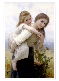 Premium poster  Not hard to bear - William Adolphe Bouguereau
