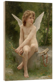 Wood print  Amor - William Adolphe Bouguereau