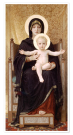 Premium poster  Madonna and Child - William Adolphe Bouguereau