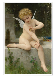 Premium poster  Cupid with butterfly - William Adolphe Bouguereau