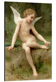 Alu-Dibond  Cupid with the mandrel - William Adolphe Bouguereau