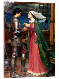 Acrylic print  Tristan and Isolde - John William Waterhouse