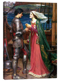 Canvas print  Tristan and Isolde - John William Waterhouse