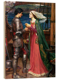 Wood print  Tristan and Isolde - John William Waterhouse