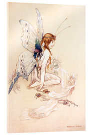 Acrylic print  The fairies brought her a pretty pair of wings - Warwick Goble