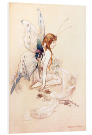 Foam board print  The fairies brought her a pretty pair of wings - Warwick Goble