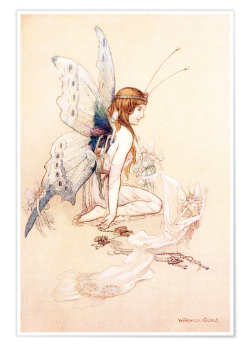 Premium poster The fairies brought her a pretty pair of wings