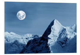 Foam board print  Full moon on the Eiger - Gerhard Albicker