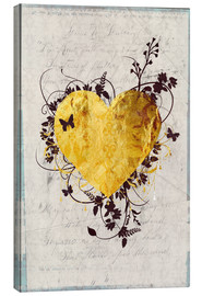Canvas print  Golden Heart - Sybille Sterk