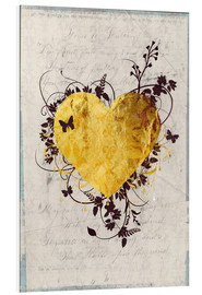 Foam board print  Golden Heart - Sybille Sterk