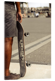 Acrylic print  Skateboard freedom II - coloured - Christian Seidenberg