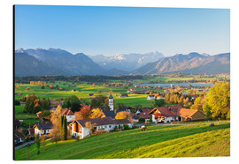 Alu-Dibond  Alps panorama in autumn, Bavaria - Markus Lange