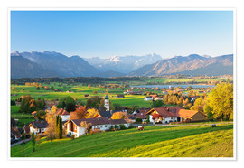 Premium poster  Alps panorama in autumn, Bavaria - Markus Lange