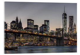 Acrylic print  Brooklyn Bridge /Manhattan - Marcus Sielaff