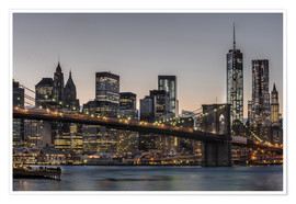 Premium poster  Brooklyn Bridge /Manhattan - Marcus Sielaff
