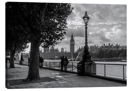 Canvas  London black and white - Filtergrafia