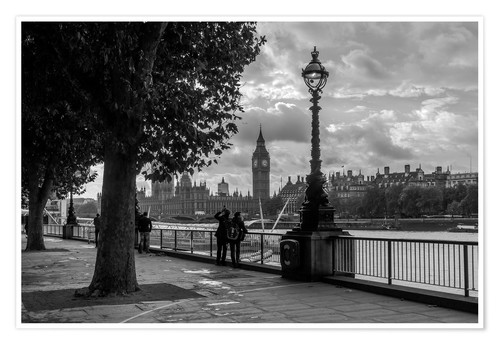 Premium poster London black and white