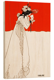 Wood print  Isolde - Aubrey Vincent Beardsley