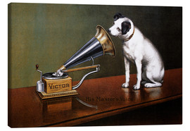 Canvas  His Master's Voice Ad, The Theatre  - François Barraud