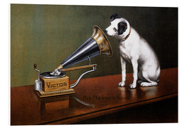 Foam board print  His master's voice ad - François Barraud