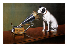Poster  His Master's Voice Ad, The Theatre - François Barraud