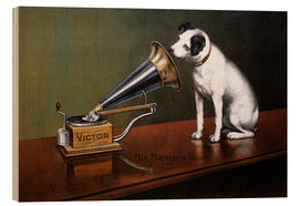 Wood print  His master's voice ad - François Barraud