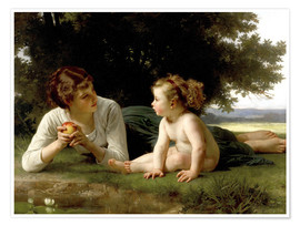 Poster  Temptation - William Adolphe Bouguereau