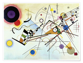 Premium poster  Composition no. 8 - Wassily Kandinsky