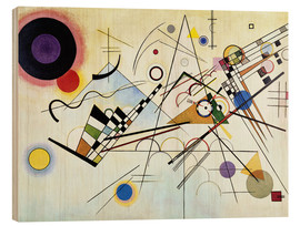 Wood print  Composition no. 8 - Wassily Kandinsky