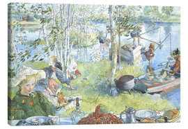 Canvas  Opening of the crab fishing season - Carl Larsson