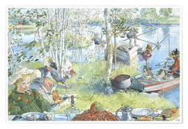 Premium poster  Opening of the crab fishing season - Carl Larsson