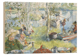 Wood print  Opening of the crab fishing season - Carl Larsson