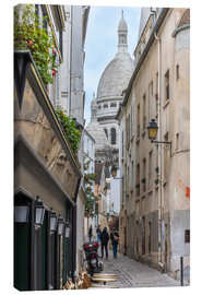 Canvas print  Streets of Montmartre Paris - FineArt Panorama