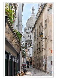 Premium poster  Streets of Montmartre Paris - FineArt Panorama