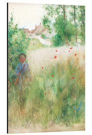 Aluminium print  The flower garden - Carl Larsson