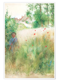 Premium poster  The flower garden - Carl Larsson