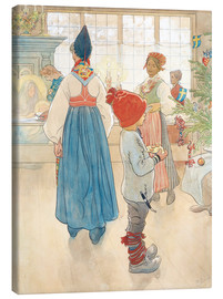 Canvas print  Before Christmas - Carl Larsson