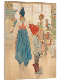 Wood print  Before Christmas - Carl Larsson