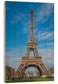 Wood print  The Eiffel Tower, Paris - FineArt Panorama
