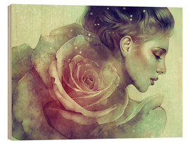 Wood print  June - Anna Dittmann
