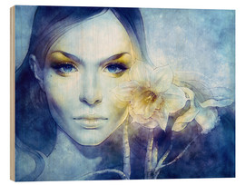 Wood print  March - Anna Dittmann