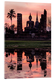 Acrylic print  Wat Mahathat in evening light - Matteo Colombo