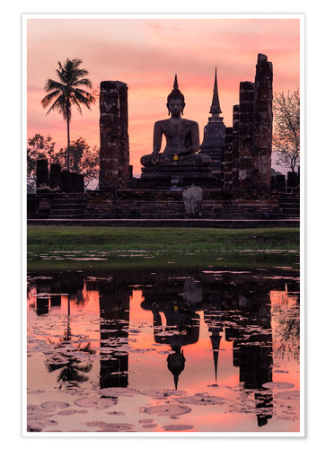 Premium poster Wat Mahathat in evening light
