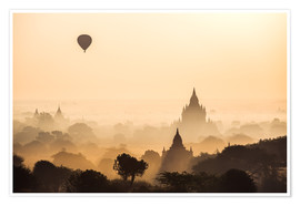 Premium poster  Balloon over Bagan, Myanmar - Matteo Colombo
