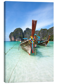Canvas  Decorated wooden boats, Thailand - Matteo Colombo